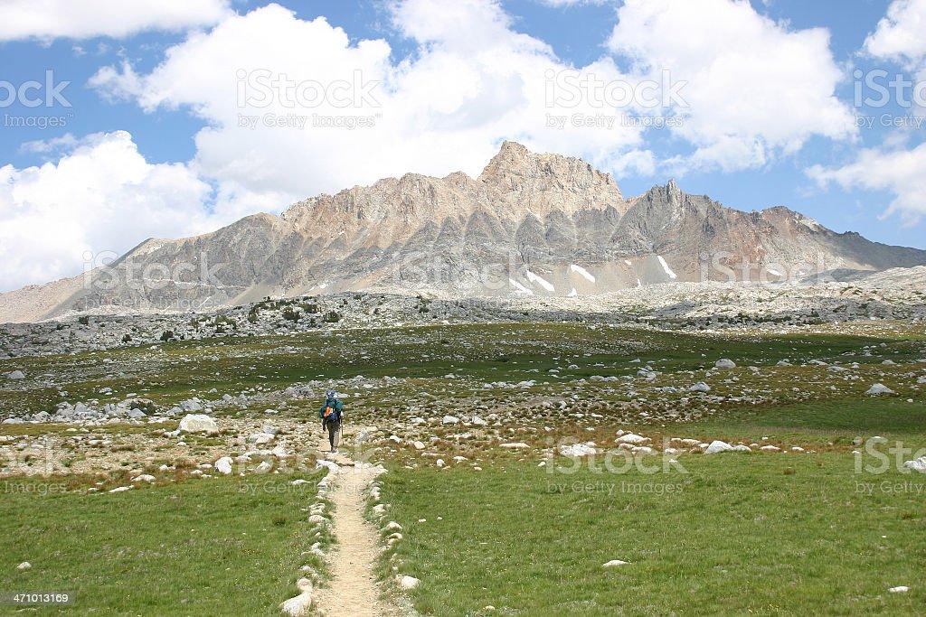 Backpacking High Sierra stock photo