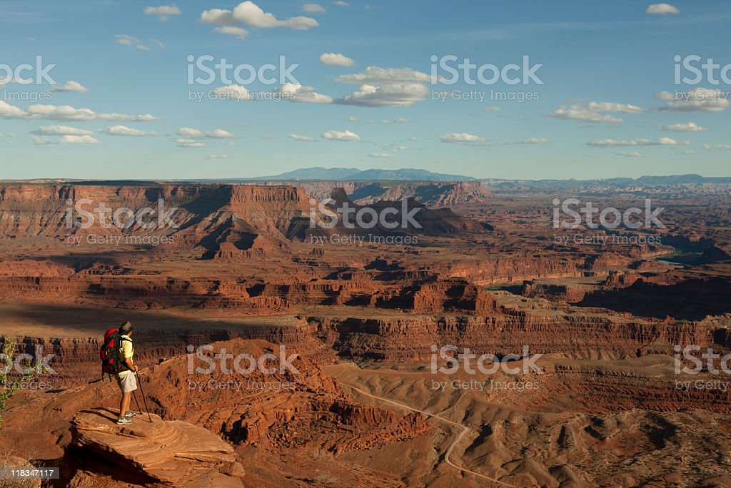 Backpacking In Canyonlands National Park Moab, Utah stock photo