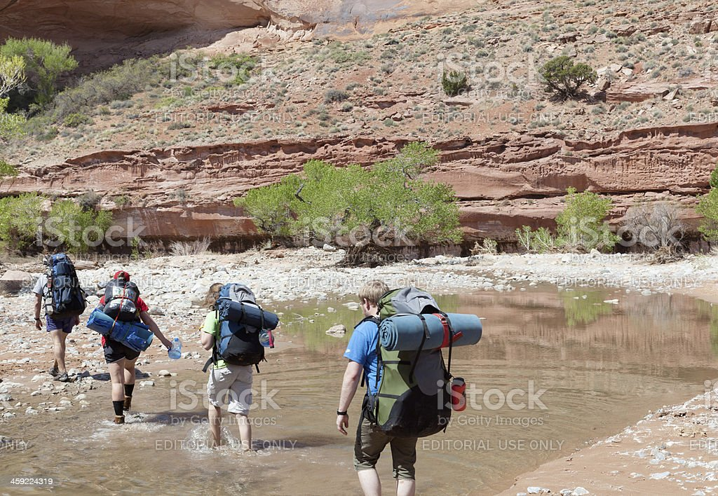 Backpacking royalty-free stock photo