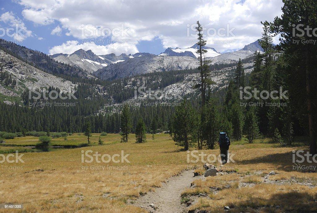 Backpacking the John Muir Trail stock photo