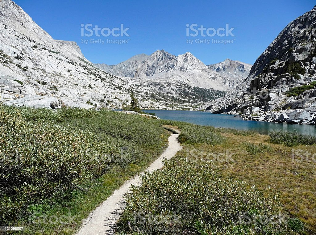 Backpacking Trail stock photo