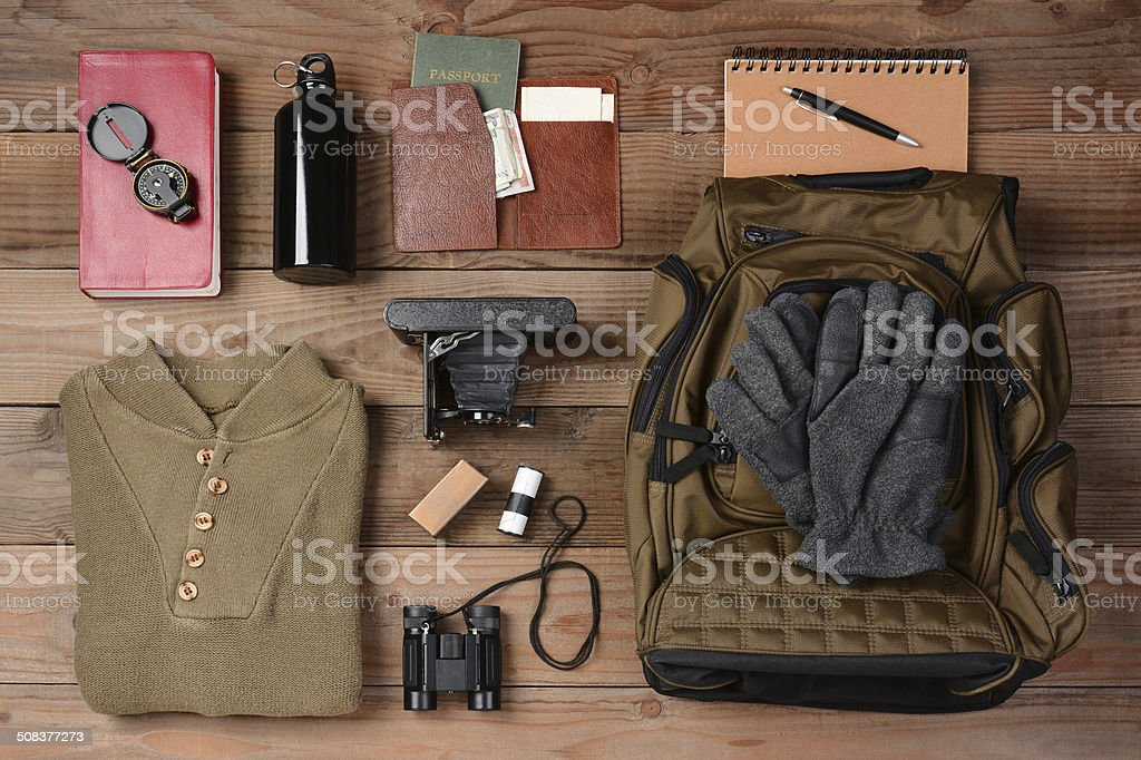 Backpacking Trip stock photo