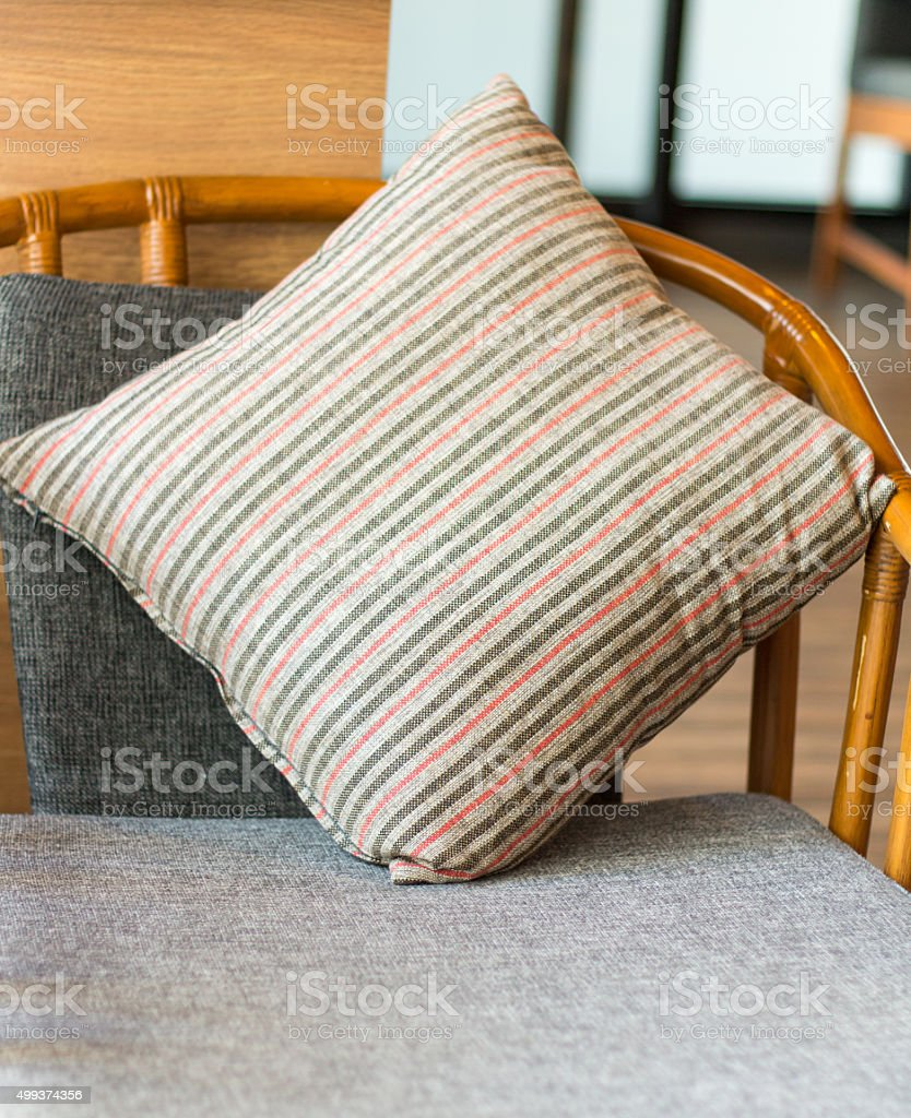 Backrest pillow house interior stock photo