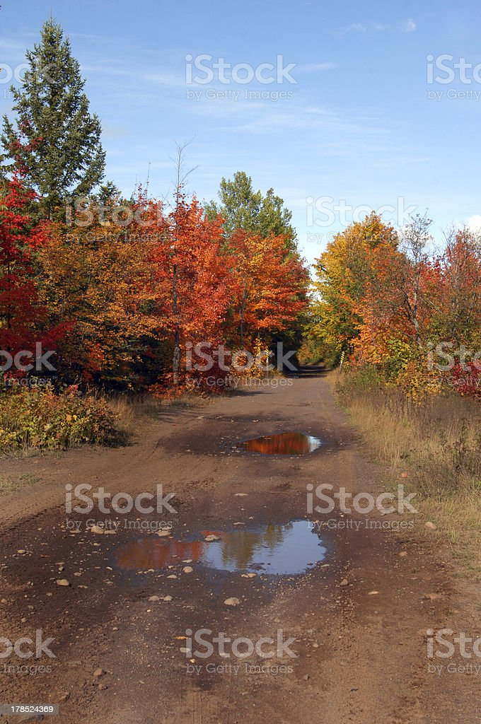 Backroad in Upper Penninsula Michigan royalty-free stock photo