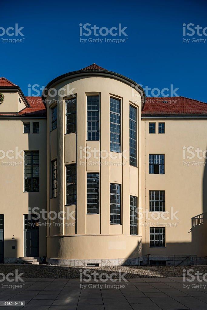 backside main building Bauhaus university stock photo