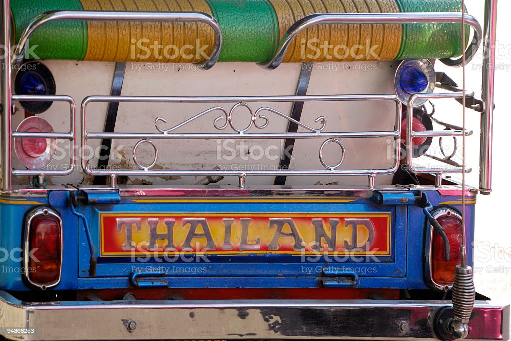 Backside of a Tuktuk in Thaland royalty-free stock photo