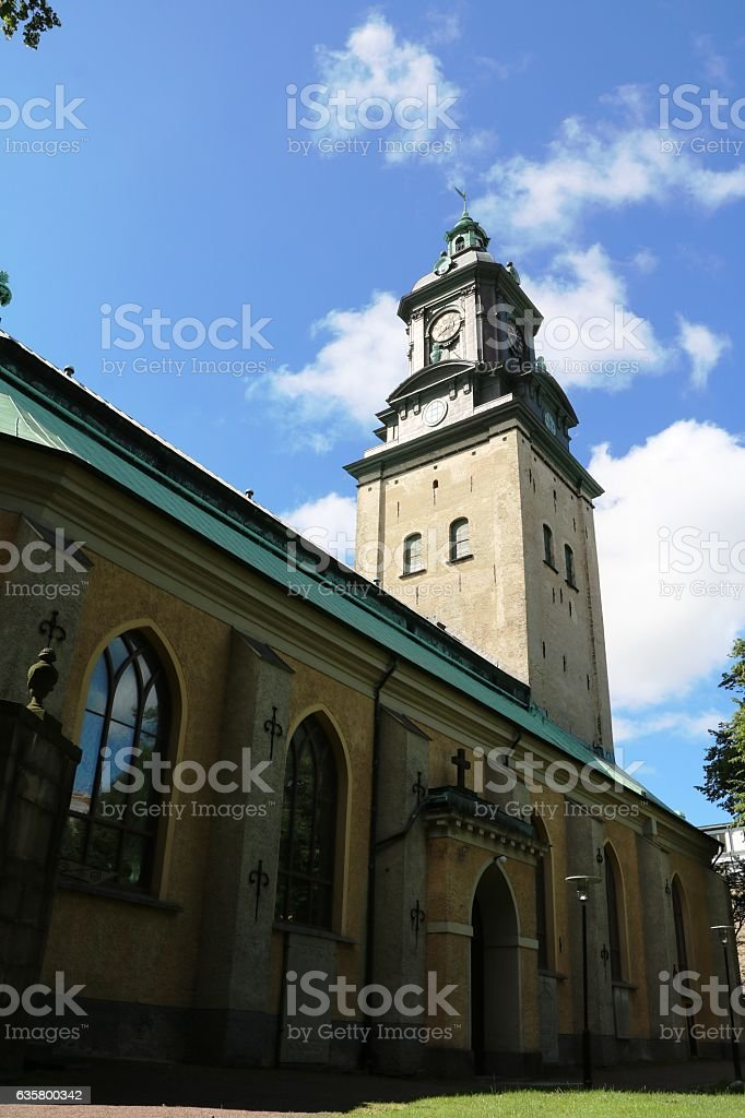 Backside of German church in Gothenburg, Sweden Scandinavia stock photo