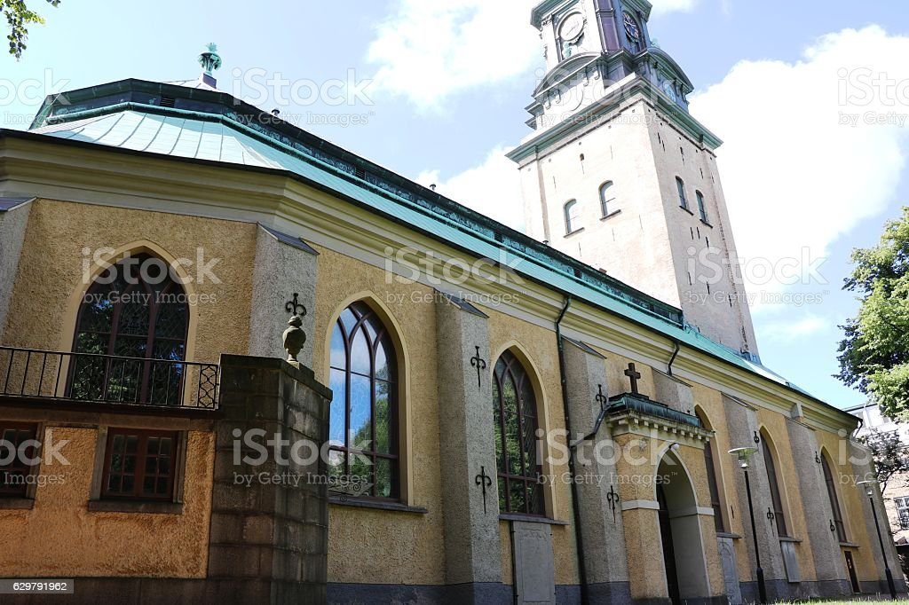 Backside of the Christine church in Gothenburg, Sweden Scandinavia stock photo