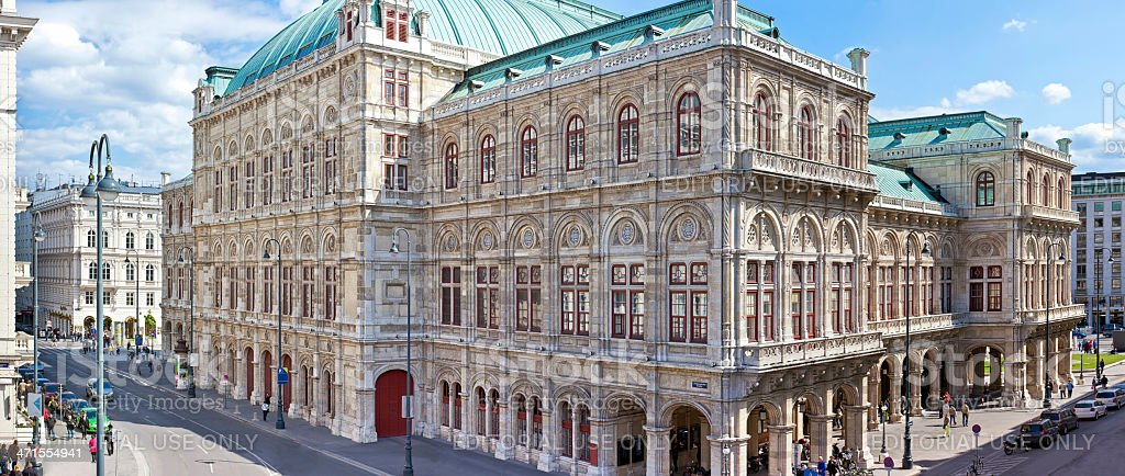 Backside of the Vienna State Opera stock photo
