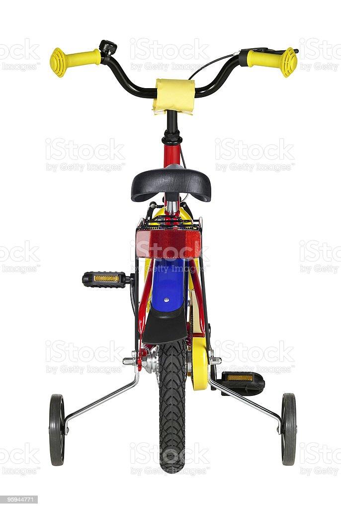 backside of yuvenile bicycle royalty-free stock photo