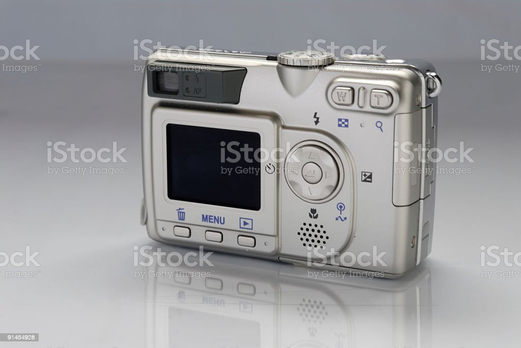 Backside on a digital Compact Camera stock photo