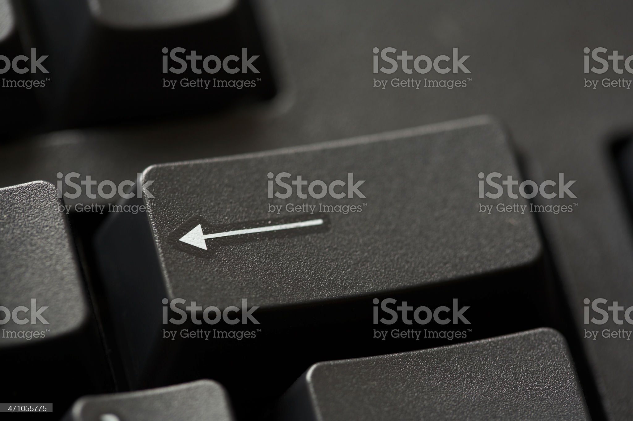 Backspace key royalty-free stock photo