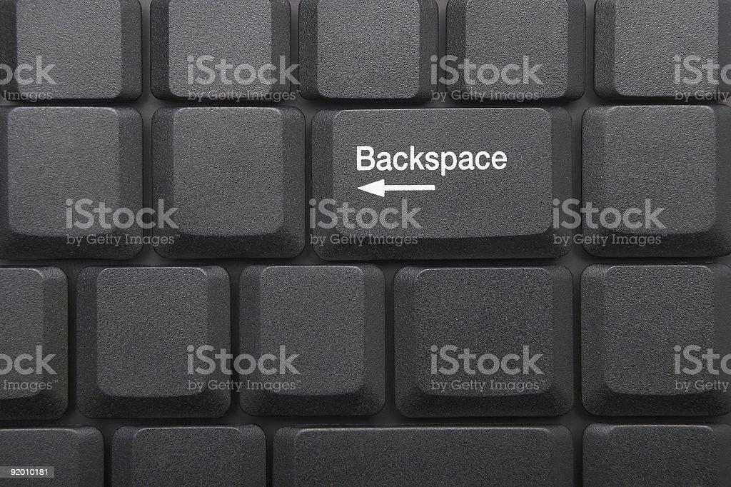 KEYBOARD - Backspace royalty-free stock photo