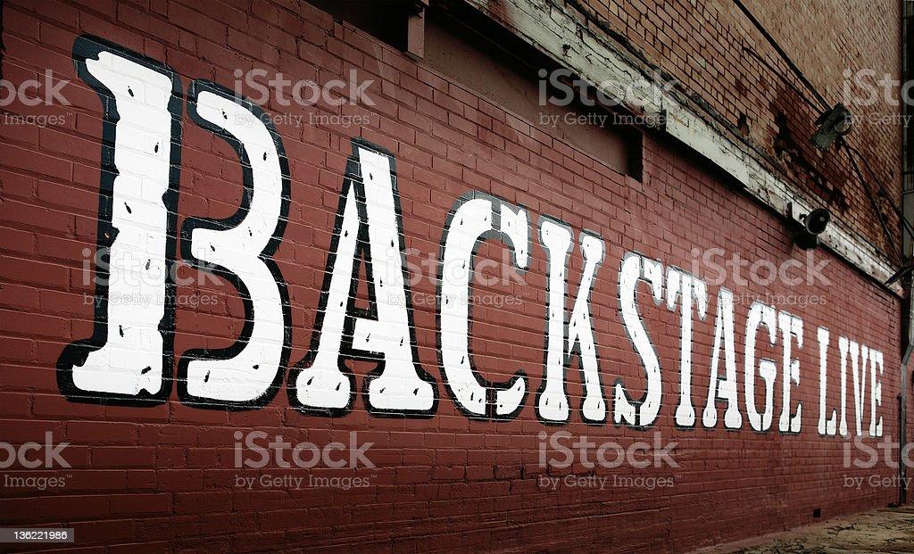 Backstage Live royalty-free stock photo
