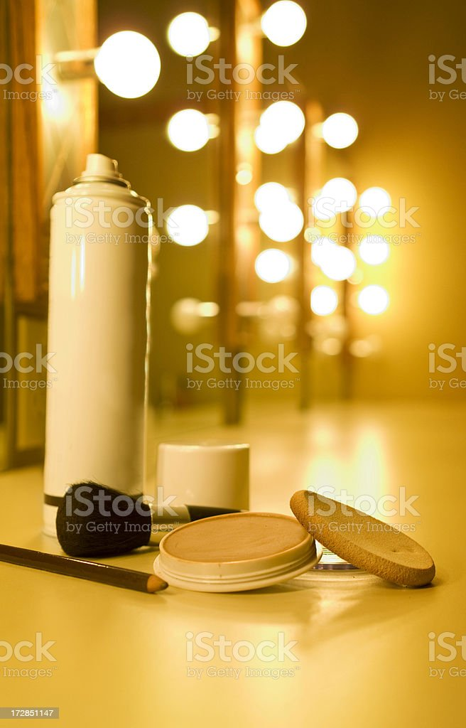 backstage makeup royalty-free stock photo