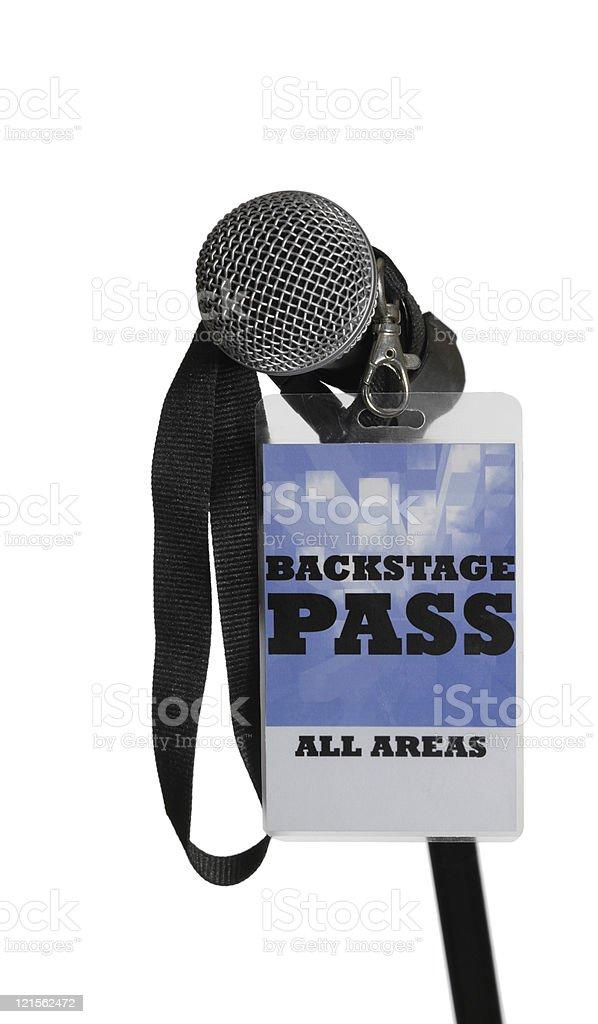 Backstage Pass stock photo