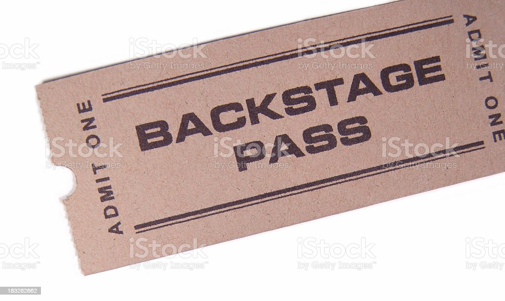 Backstage Pass stock photo