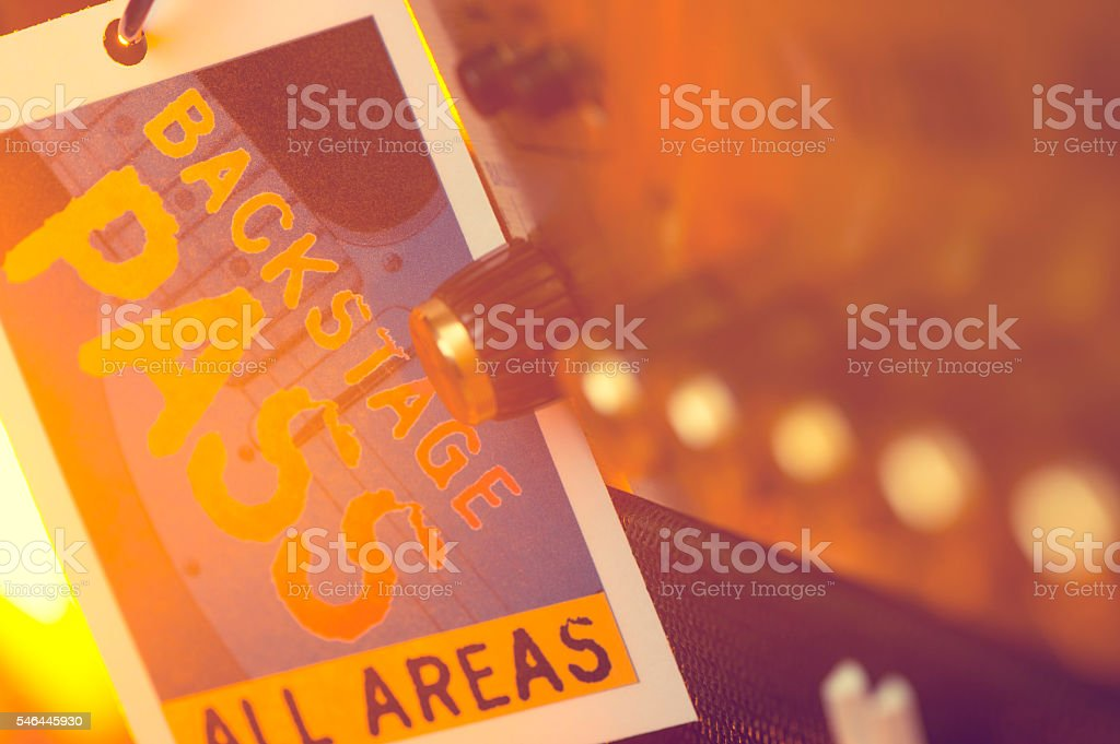 Backstage Pass with Amplifier stock photo