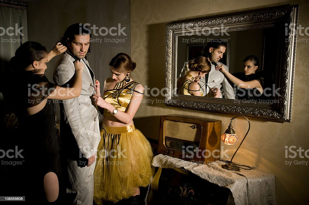 Backstage royalty-free stock photo