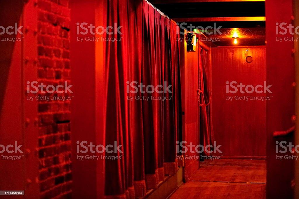 Backstage royalty-free stock photo