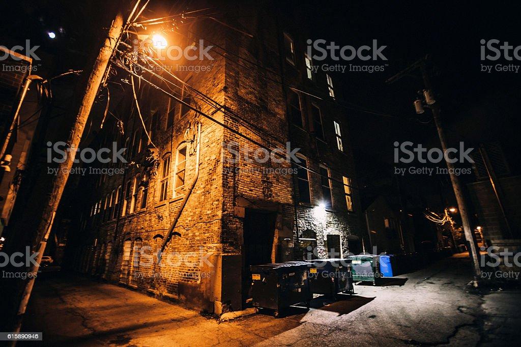 Backstreet corners, Chicago. stock photo