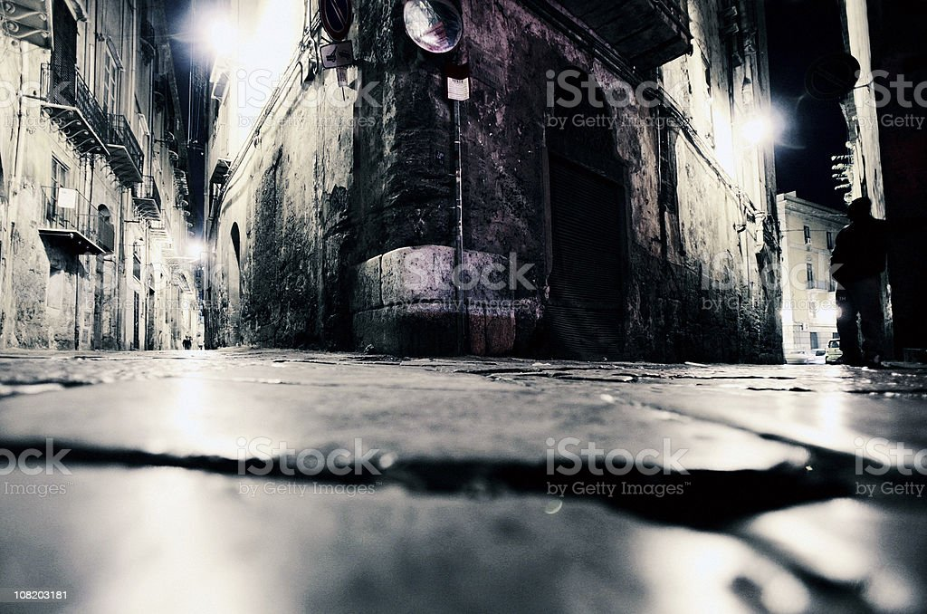 backstreet corners royalty-free stock photo