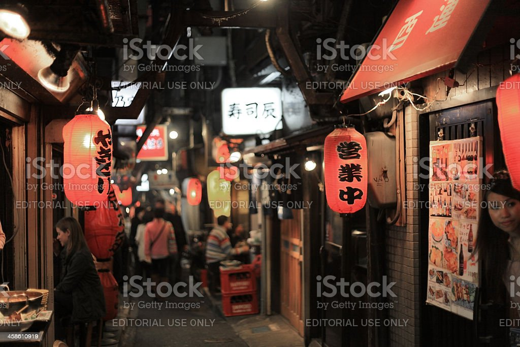 Backstreet Drinking Alley royalty-free stock photo