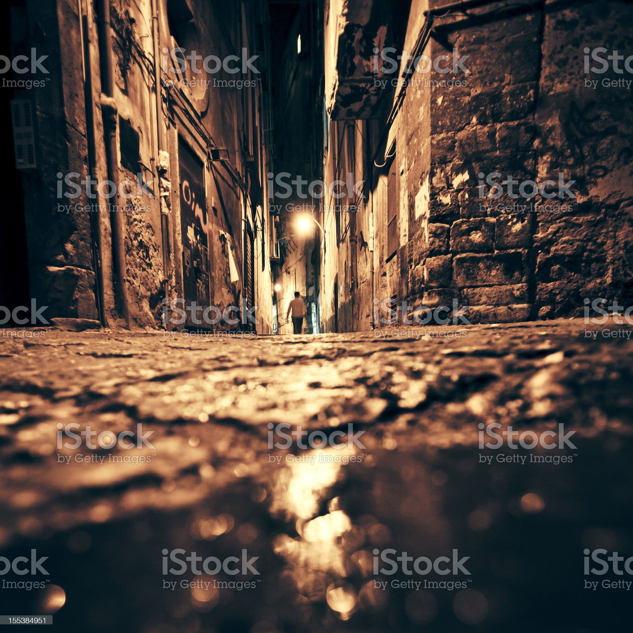 Backstreet reflections. royalty-free stock photo