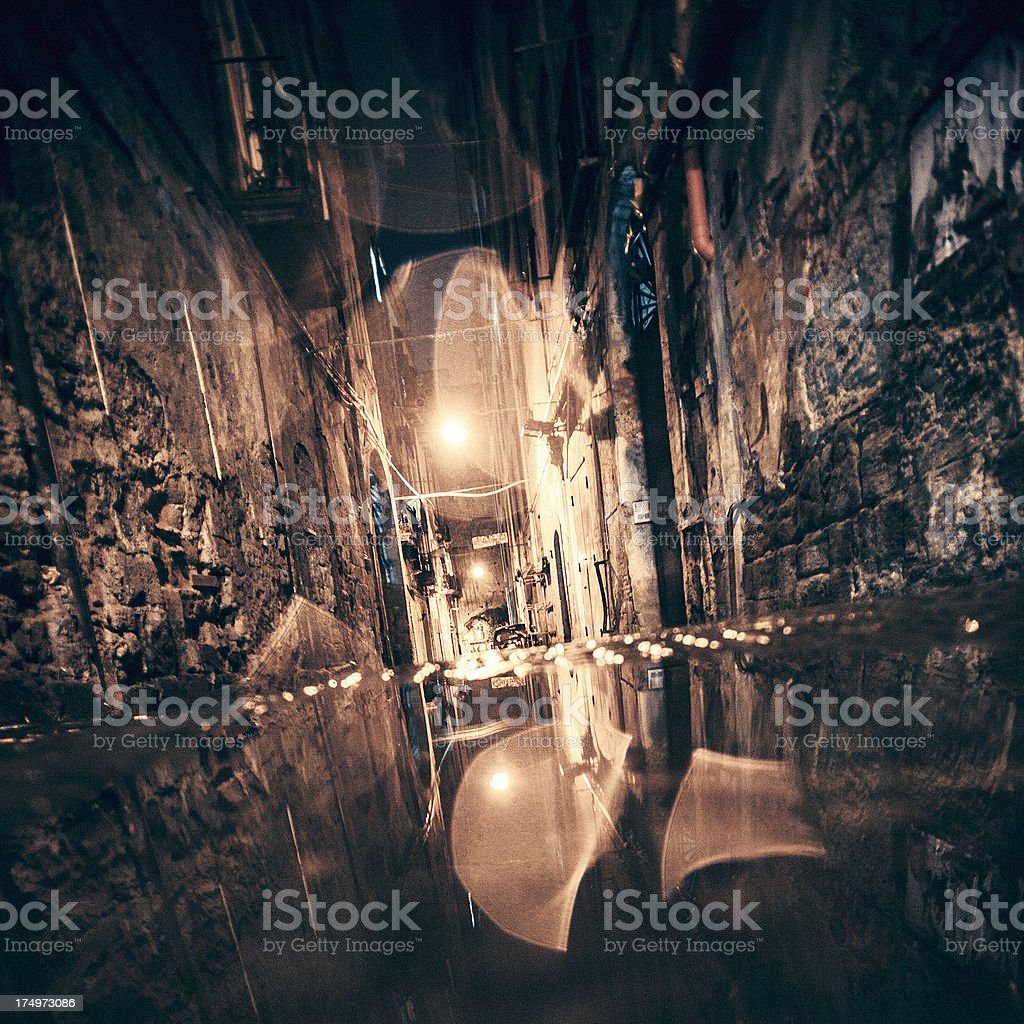 Backstreet reflections. royalty-free stock photo