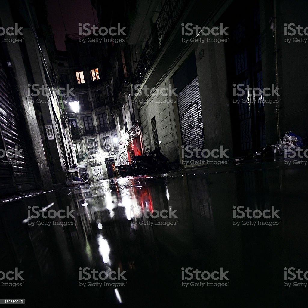 backstreet reflections stock photo