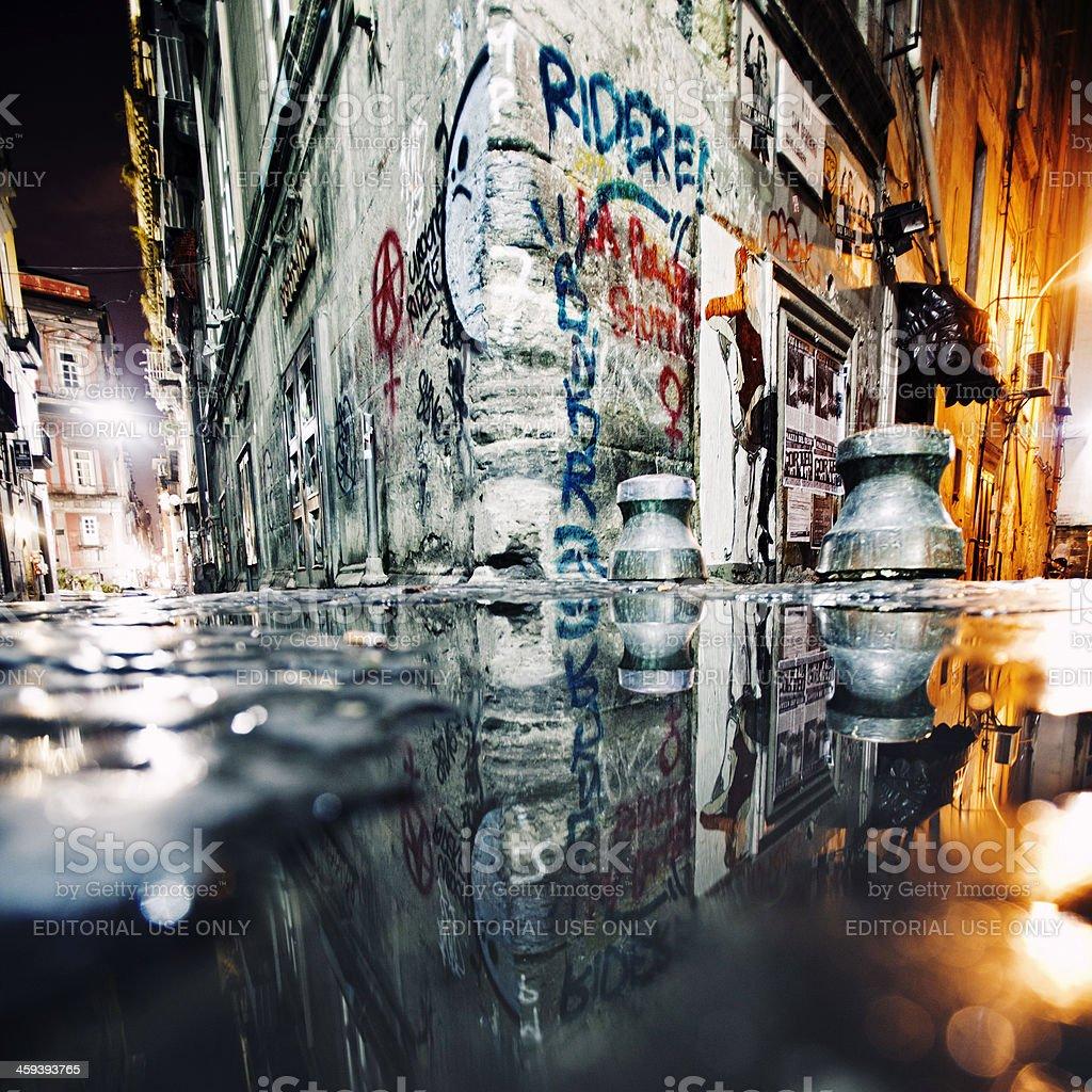 Backstreet reflections. stock photo