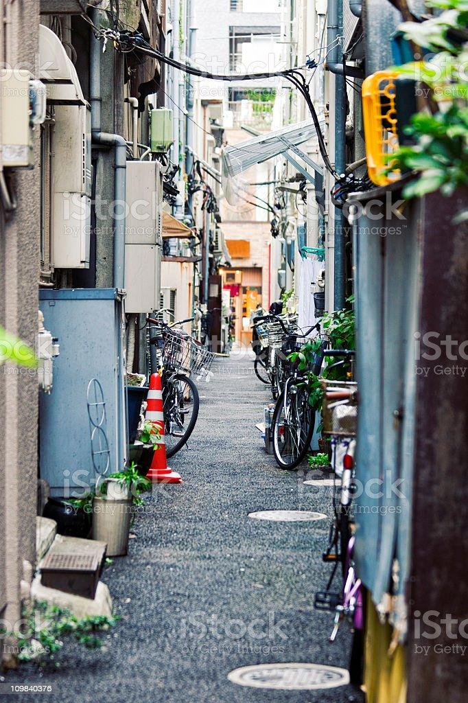 backstreet scene stock photo