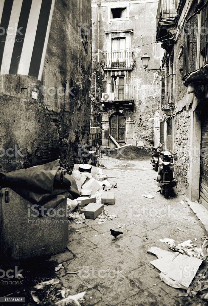 backstreet scene royalty-free stock photo