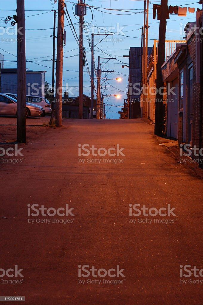 Backstreet, Shawinigan;, Canada (warm version). stock photo