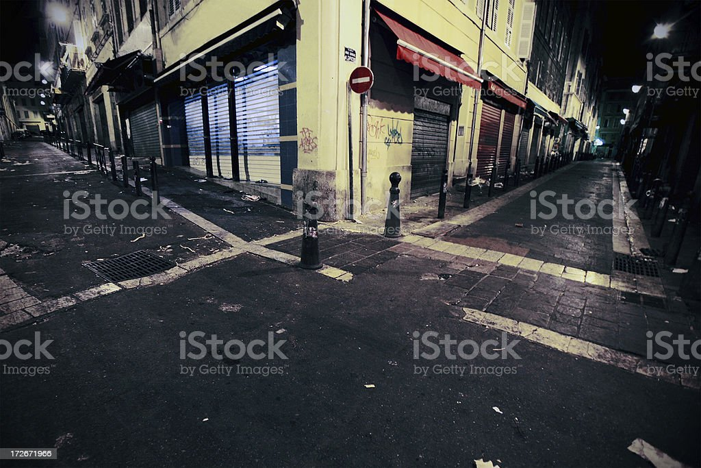 backstreets corners stock photo
