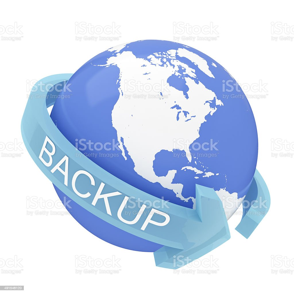 Backup Concept with clipping path stock photo