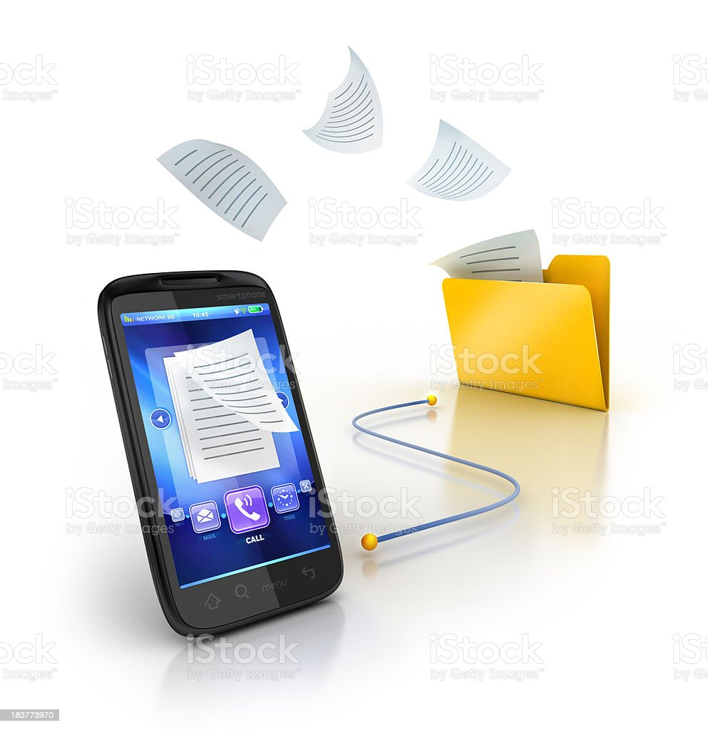 backup copy or sync mobile stock photo