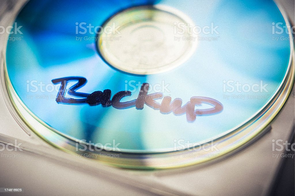 Backup DVD or CD royalty-free stock photo
