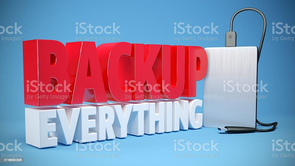 Backup everything stock photo