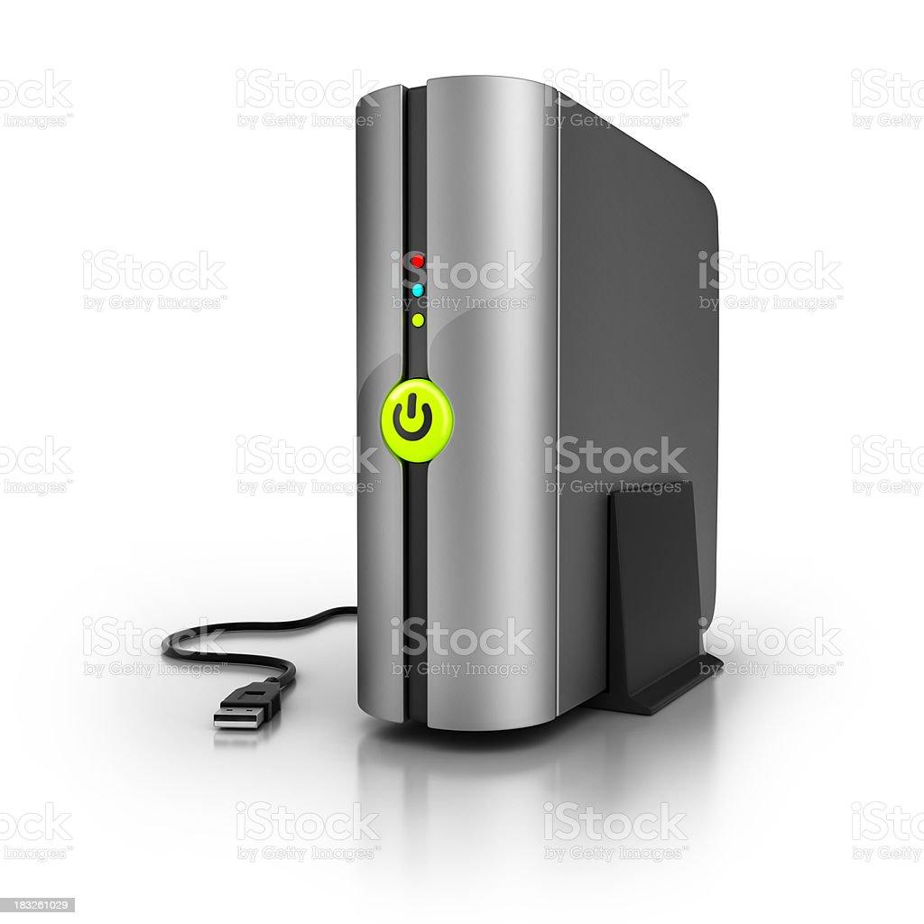 Backup External Hard Disk royalty-free stock photo