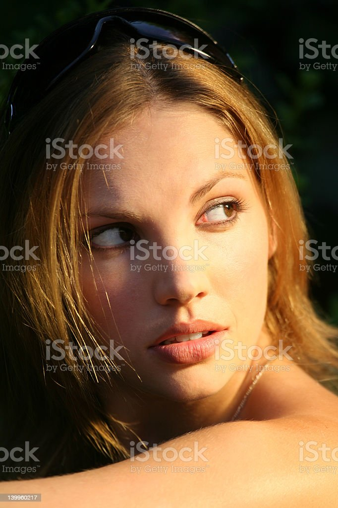 Backward Glance royalty-free stock photo