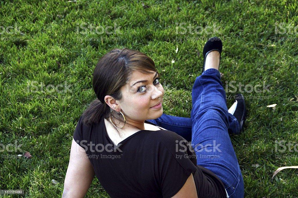 Backward Glance stock photo