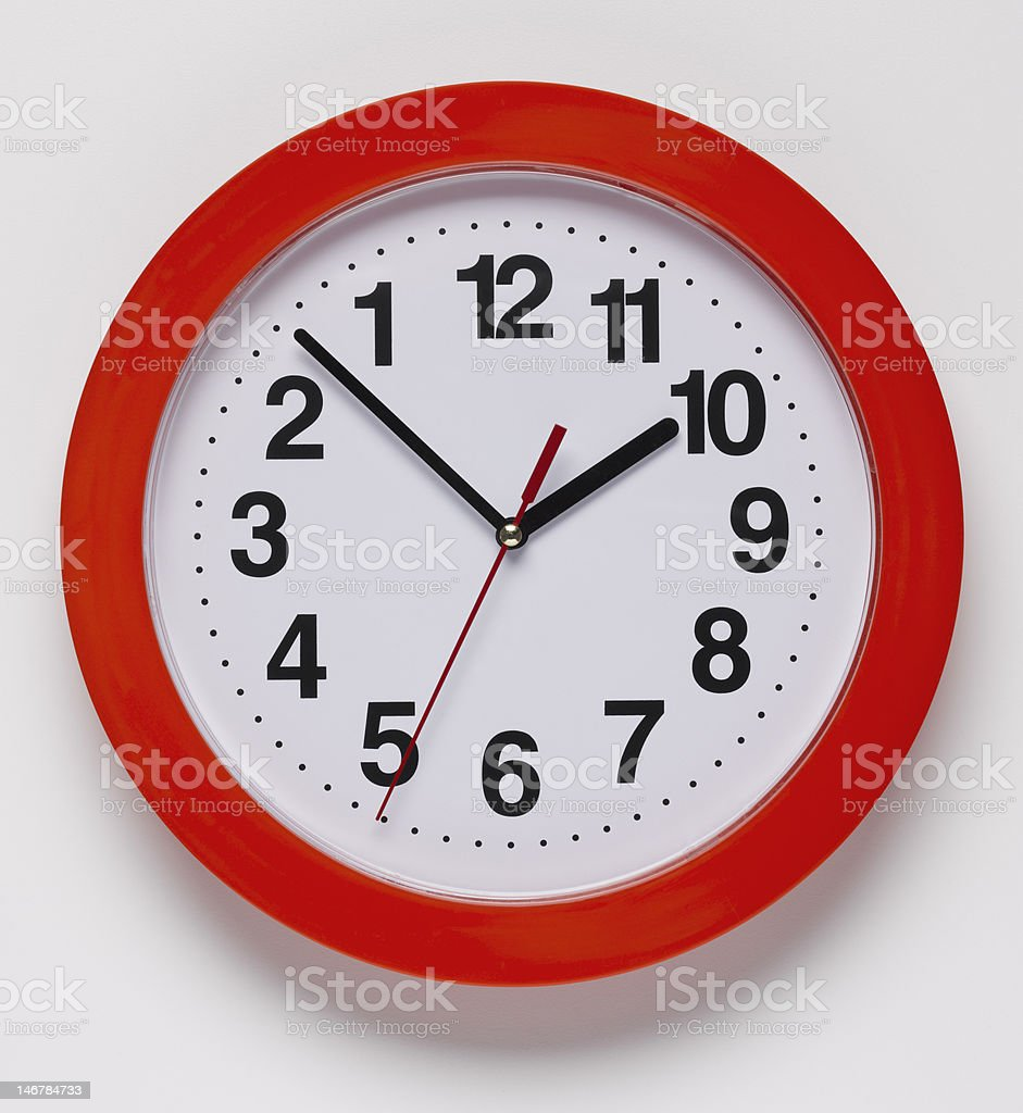 Backwards Clock stock photo