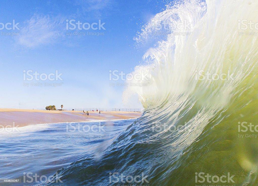 backwash stock photo
