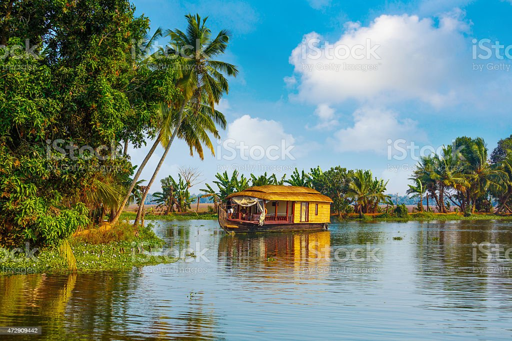 Backwaters of Kerala stock photo