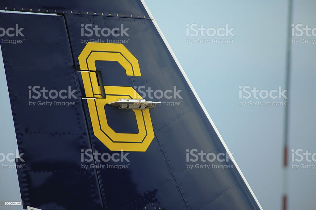 Backwing Jet royalty-free stock photo