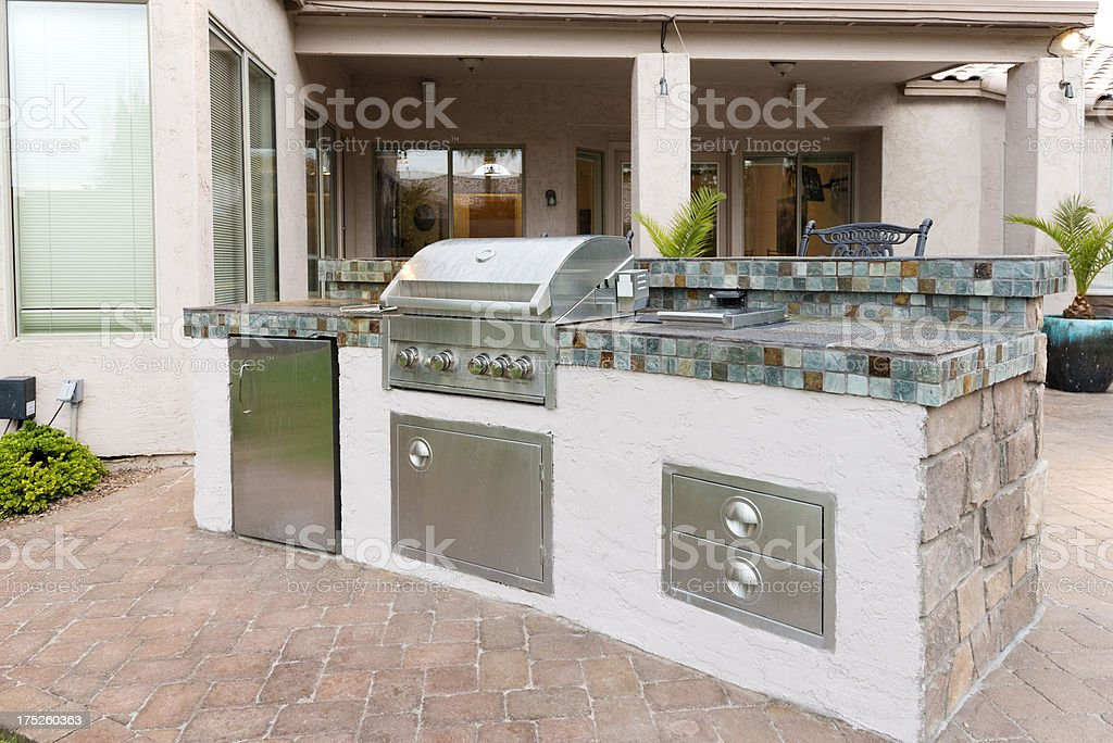 Backyard Barbeque Grill stock photo