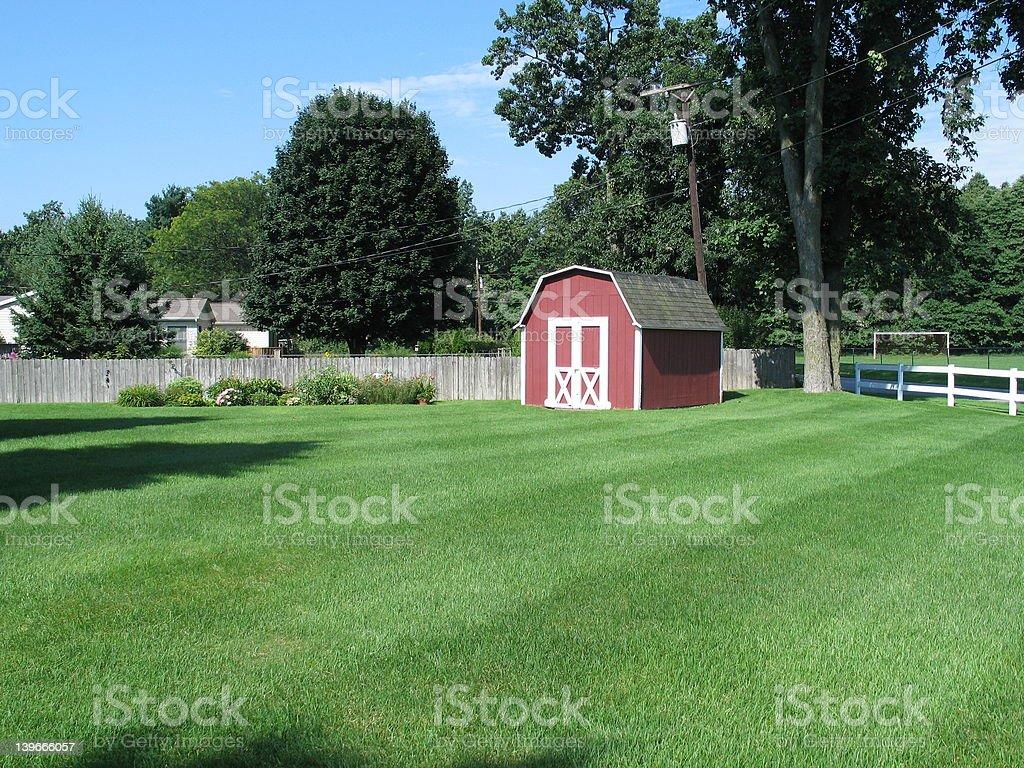 Backyard Barn stock photo