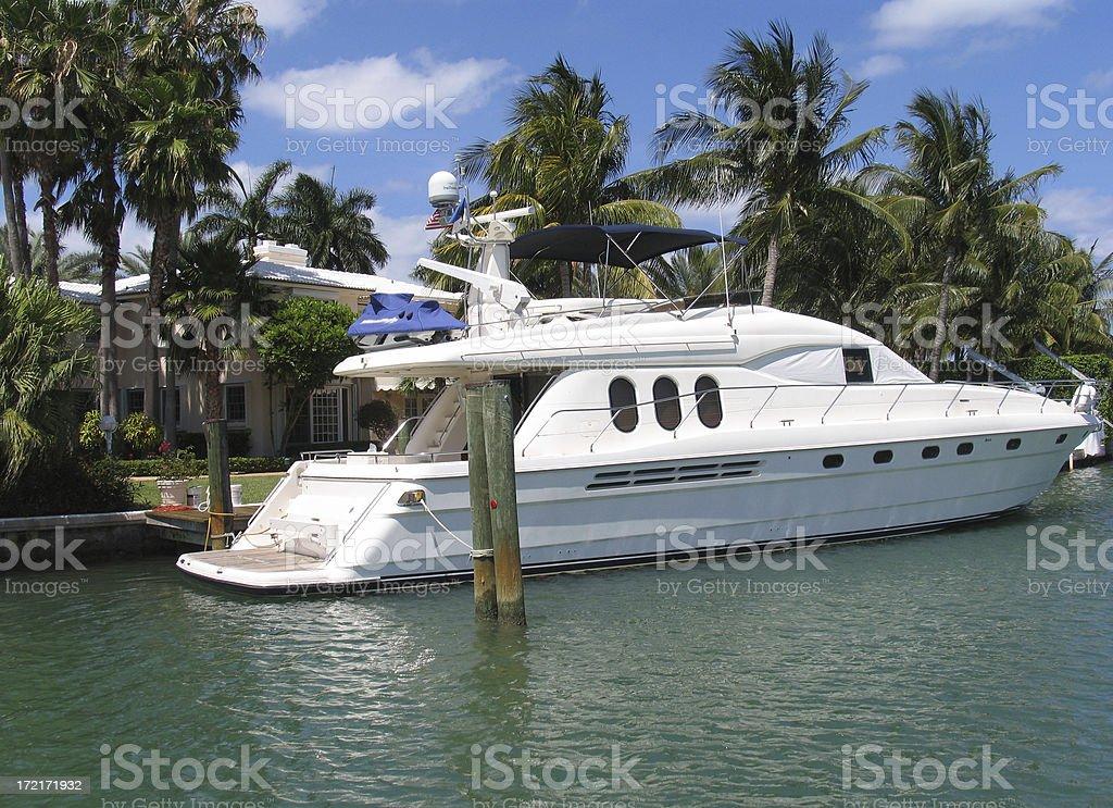 Backyard boat royalty-free stock photo