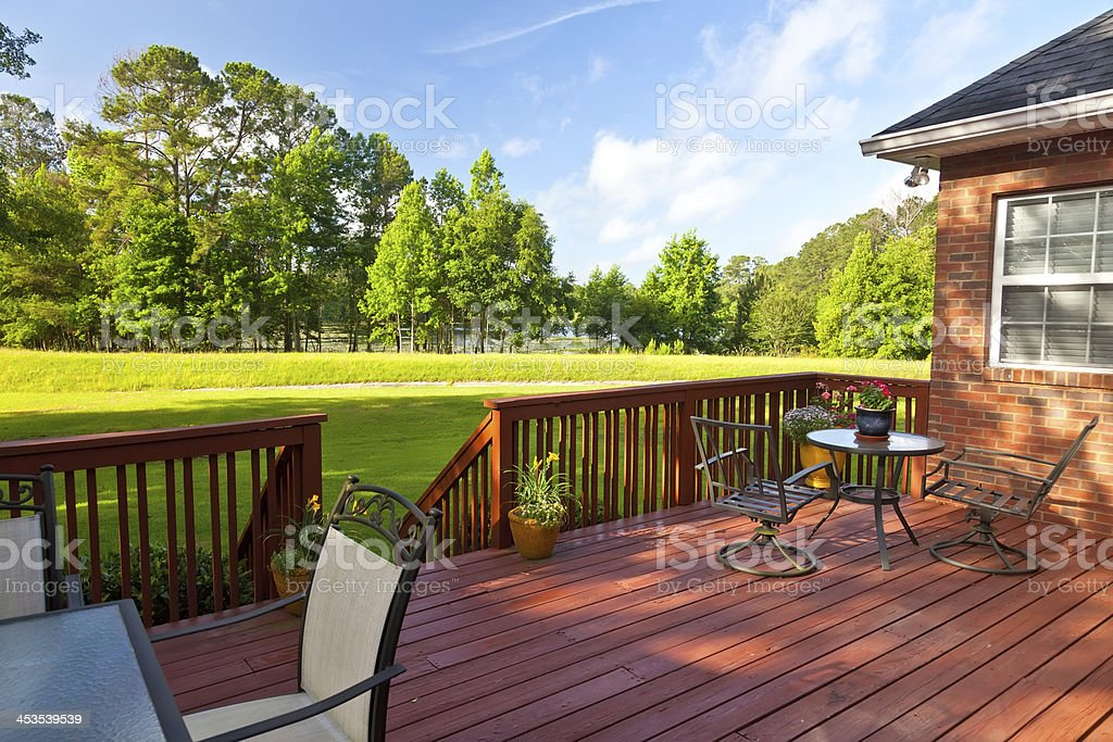 Backyard Deck stock photo